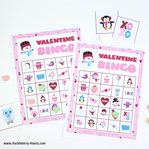 Free Printable Valentines Day Bingo Cards for Parties