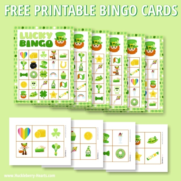 Free St Patricks Day Printable Bingo Cards
