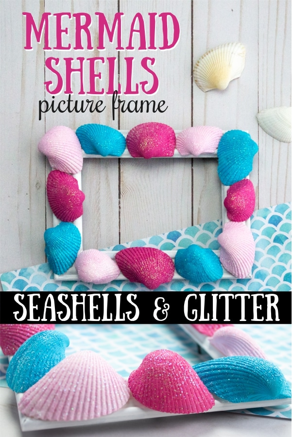 DIY Mermaid Shells Picture Frame