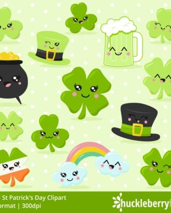 Set of St Patricks Day themed clipart