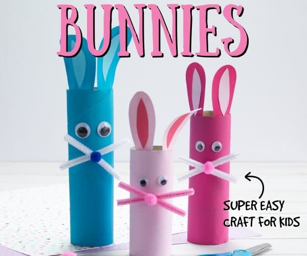 DIY Paper Towel Roll Easter Bunny Craft