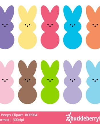 Easter Bunny Peeps Clipart