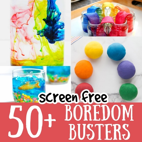 Screen Free Boredom Busting Activities for Kids