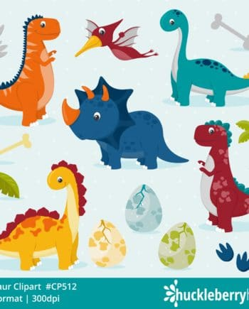 Dinosaur Themed Clipart Set