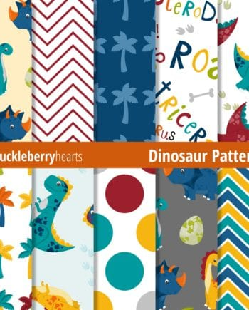 Assorted Dinosaur Digital Patterns
