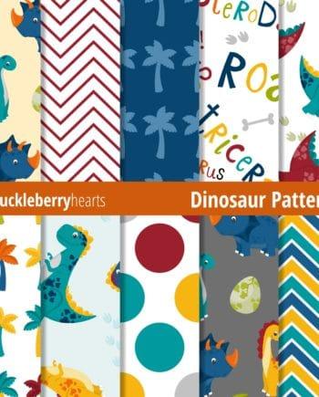 Assorted Dinosaur Digital Patterns