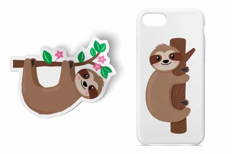 Sloth Clipart Sample 4