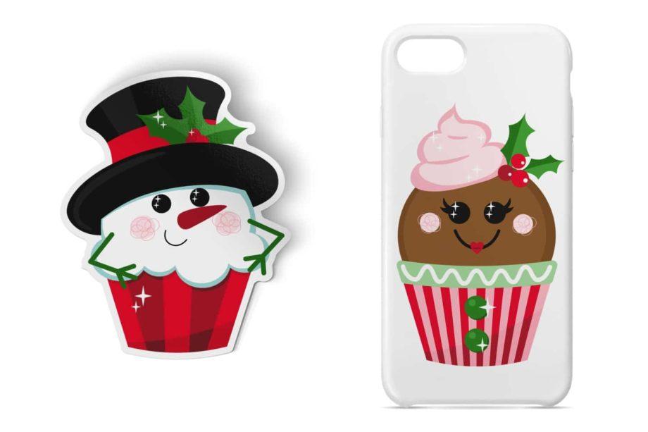 Christmas Cupcakes Friends Sample 4