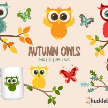 Autumn Owls Clipart