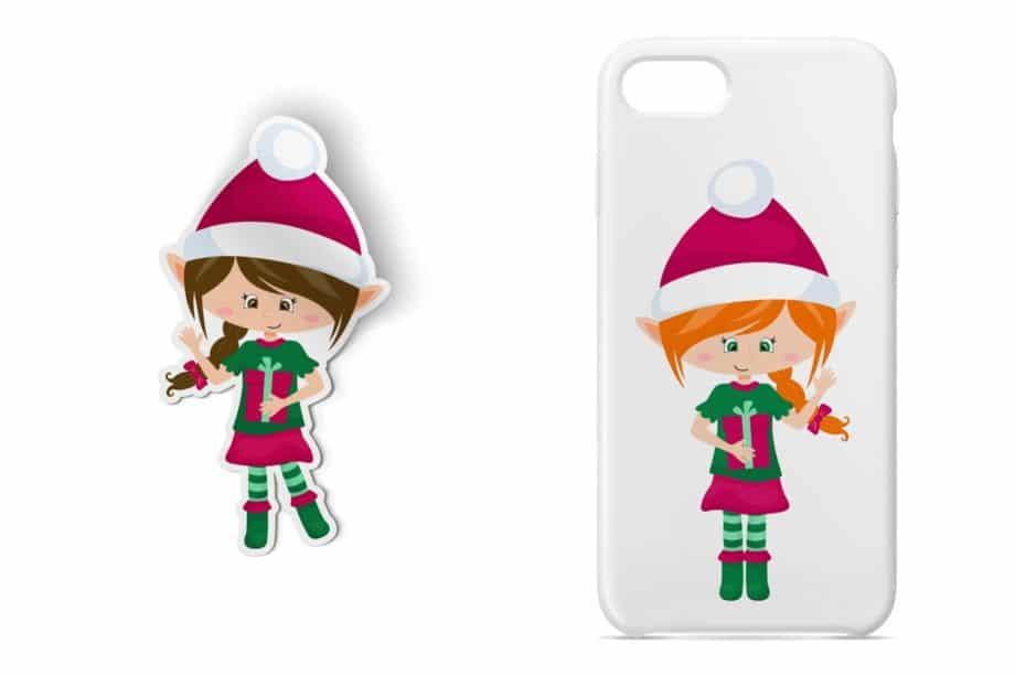 Christmas Elf Girls Clipart Sample 4