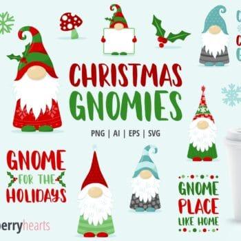 Christmas Gnomes Clipart