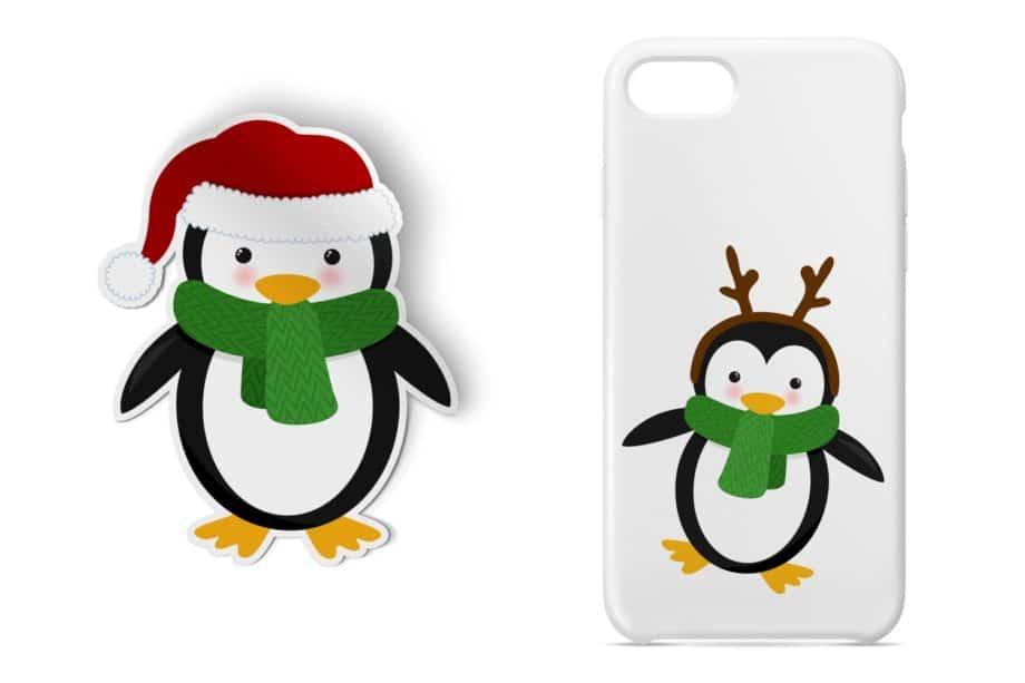 Christmas Penguins Clipart Sample 4