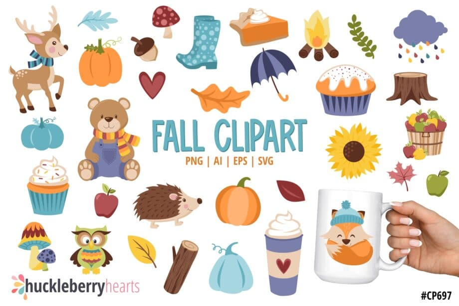 Assorted Fall themed cliparts