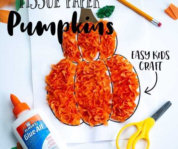 How to Make a Tissue Paper Pumpkin Craft for Kids