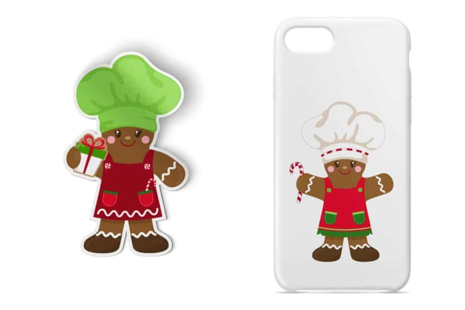 Gingerbread Chef Clipart Sample 4