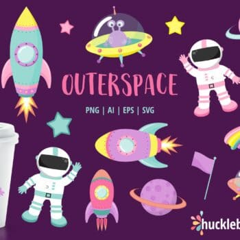 Girly Outer Space Clipart