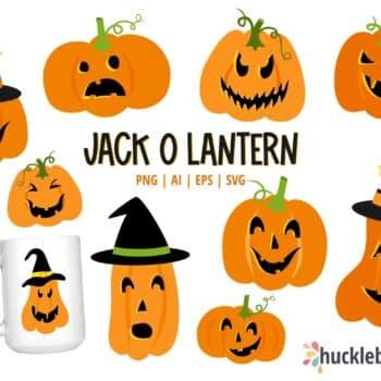 Assorted Halloween Pumpkin Clipart