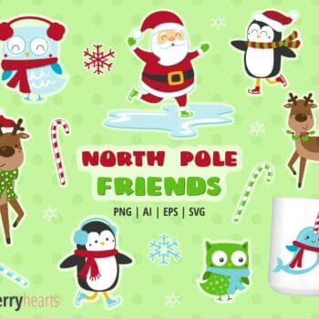 Assorted Christmas Character Clipart