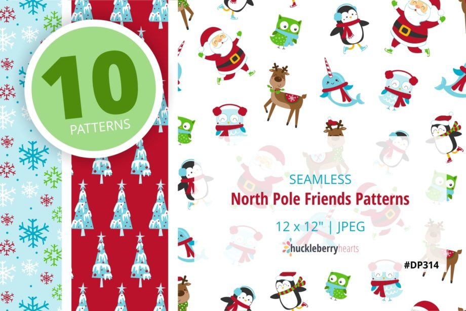 North Pole Friends Patterns Sample 2