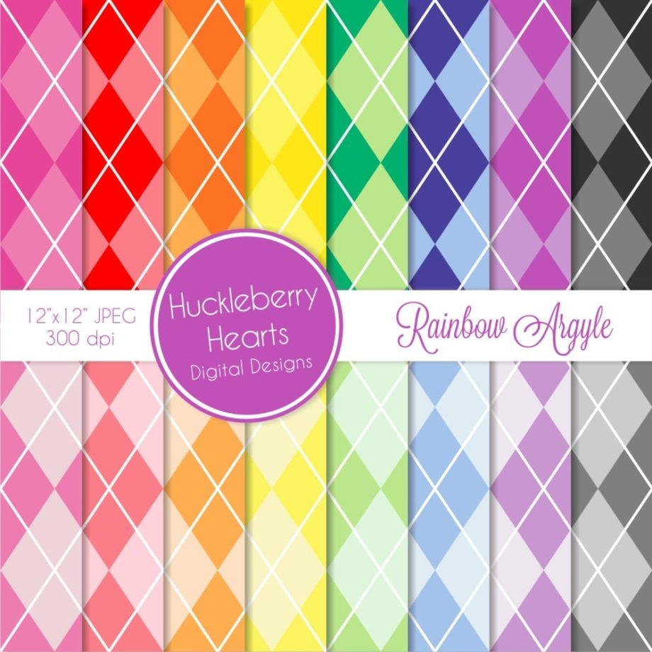 assorted rainbow argyle images