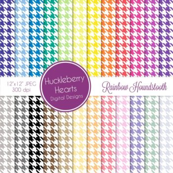 Assorted Seamless Houndstooth Patterns