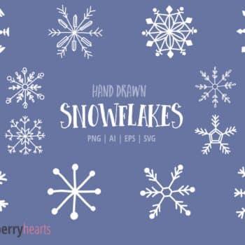 Hand Drawn Snowflake Clipart