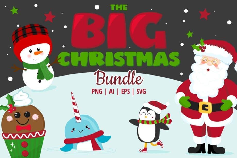 The Big Christmas Clipart Bundle Sample 1