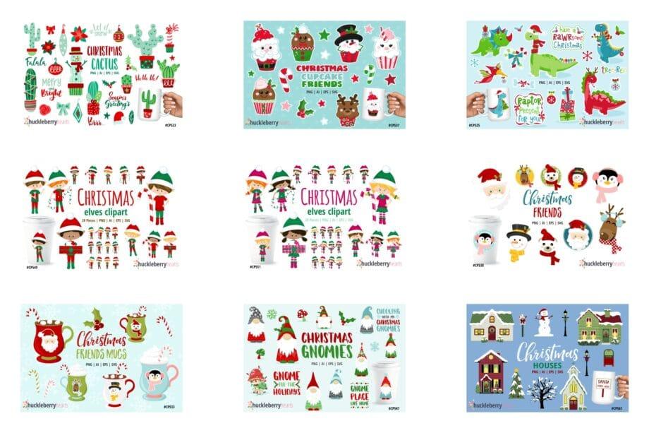 The Big Christmas Clipart Bundle Sample 2