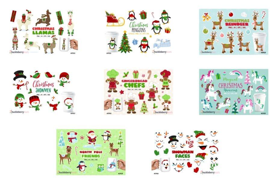 The Big Christmas Clipart Bundle Sample 3