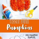 Easy and fun Tissue Paper Pumpkin Craft for kids