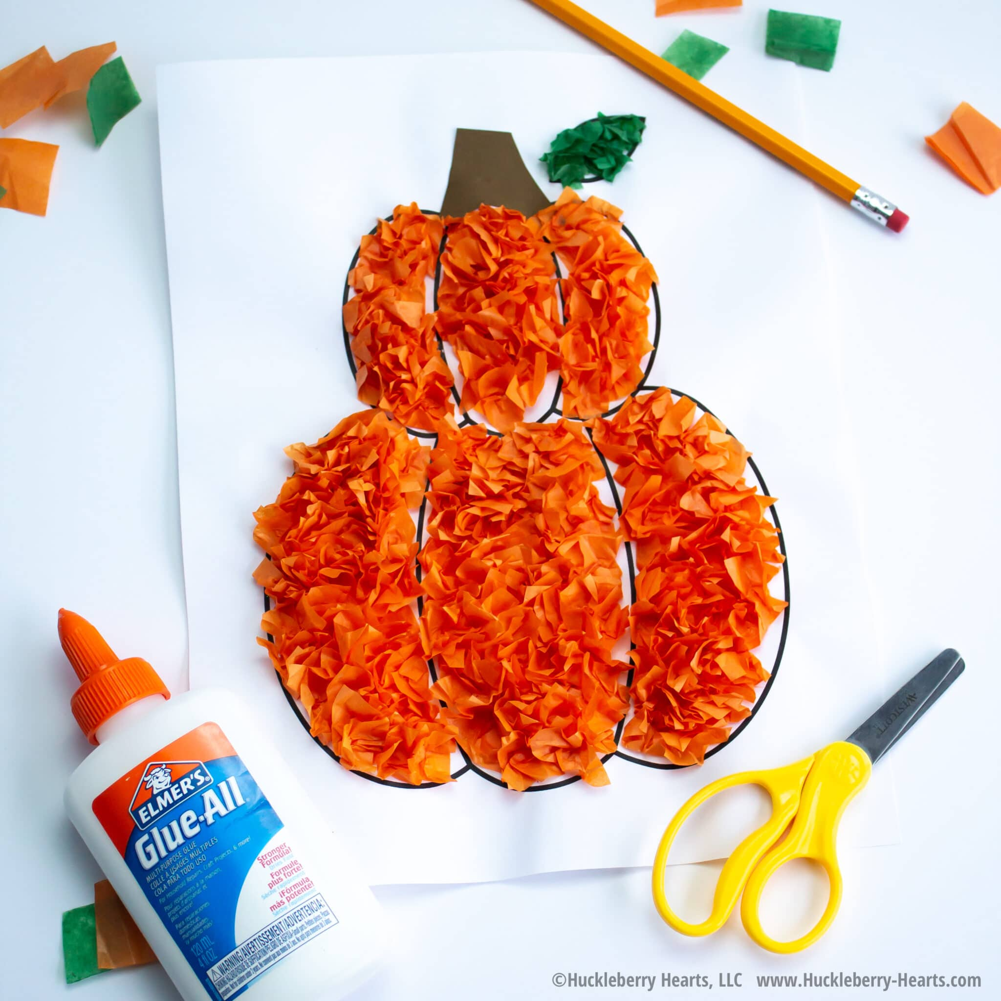 Tissue Paper Crafts for Preschoolers