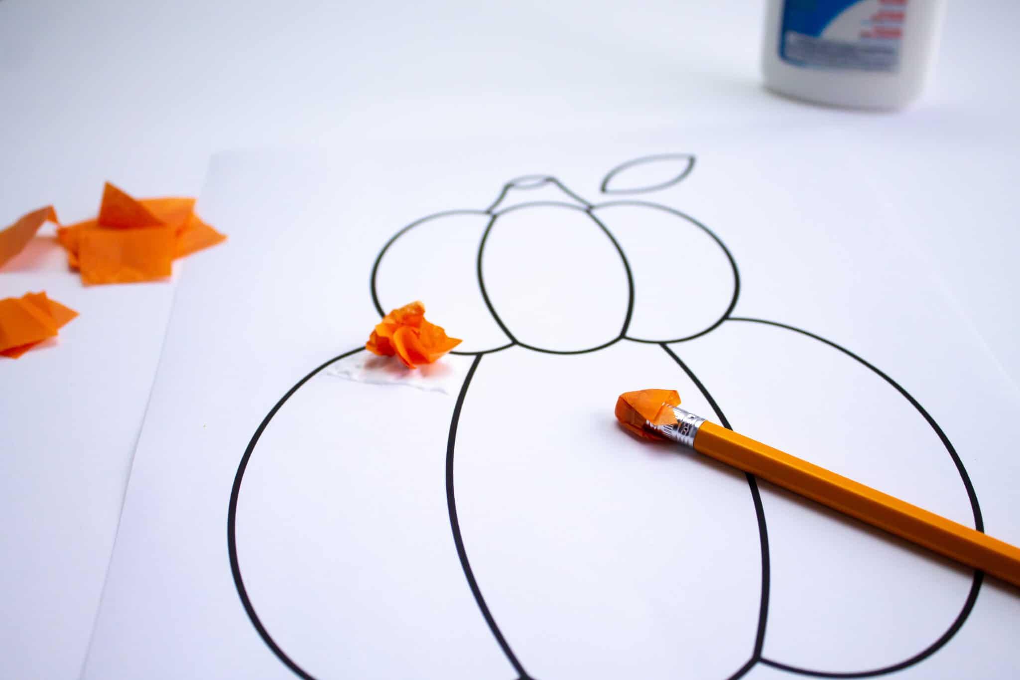 How to Make a Tissue Paper Pumpkin