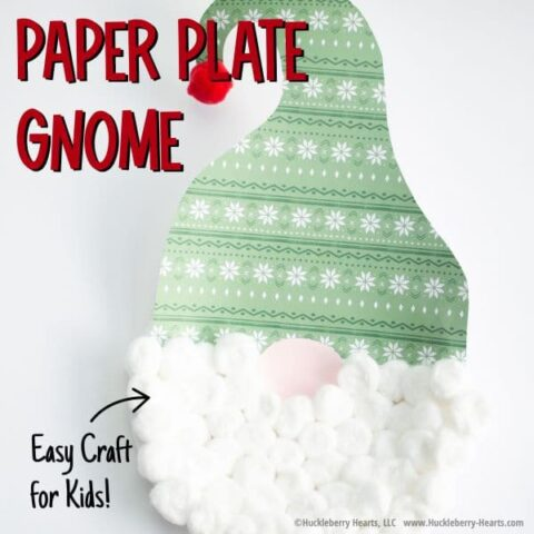 How to make a paper plate gnome craft for kids