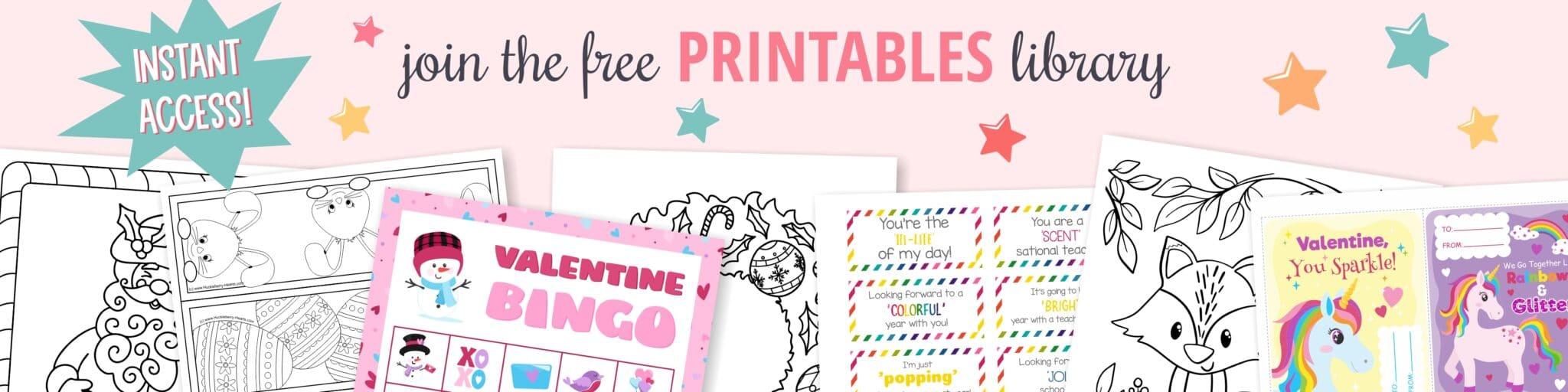 Free Printables Library for Members