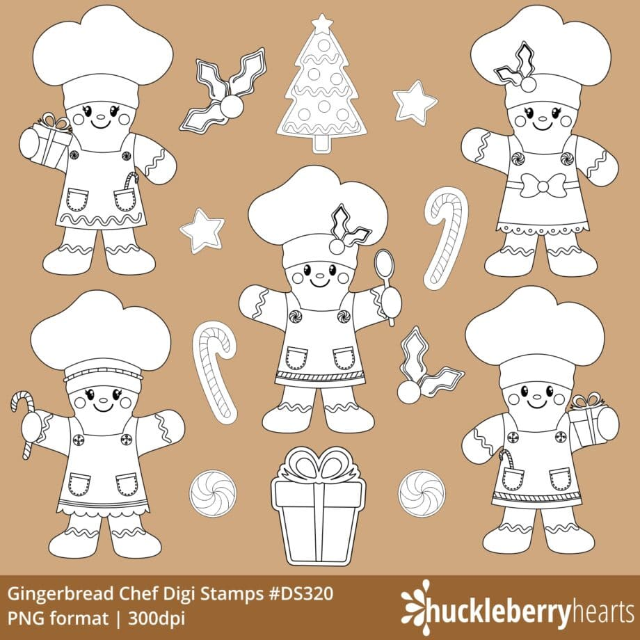 Assorted Christmas Gingerbread Cookie Chef Cliparts