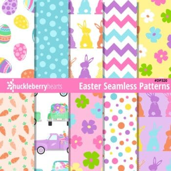 Assorted Seamless Easter themed digital papers