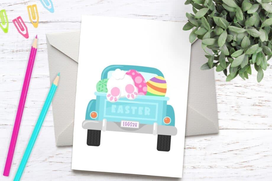 Easter Truck Clipart Sample 6