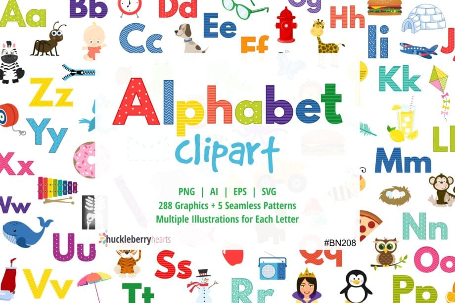 Assorted Alphabet Letters and Images