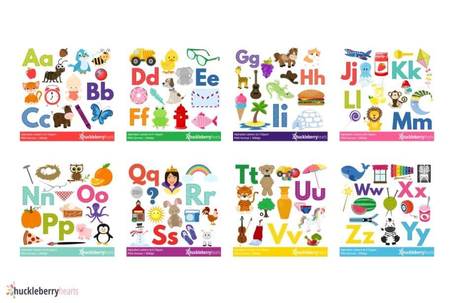 Alphabet Letters Clipart Bundle Sample 2
