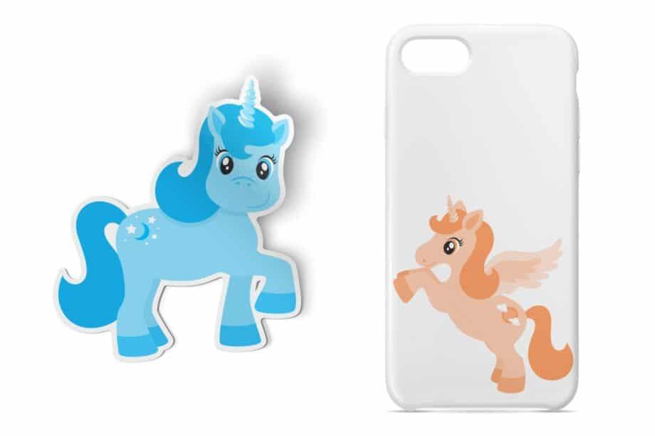 Rainbow Ponies Clipart Sample 4