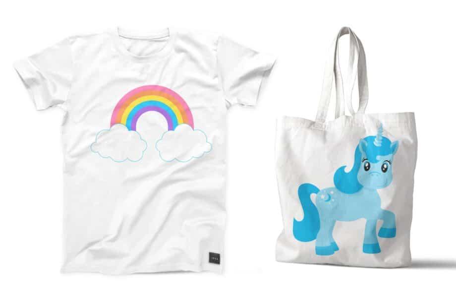 Rainbow Ponies Clipart Sample 5