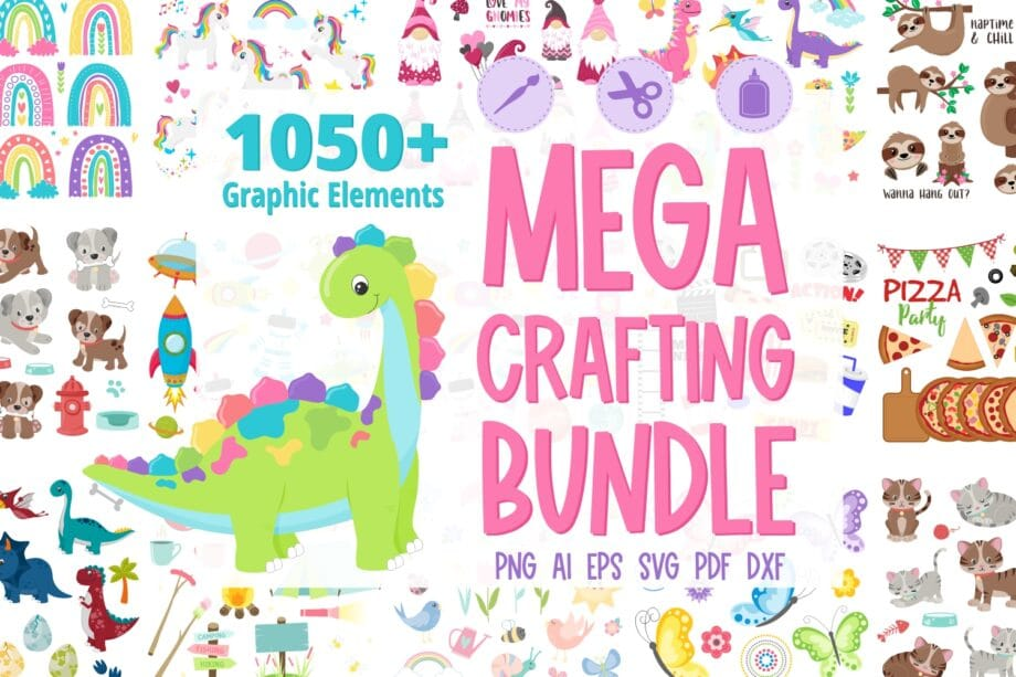 Assorted PNG and vector file bundle
