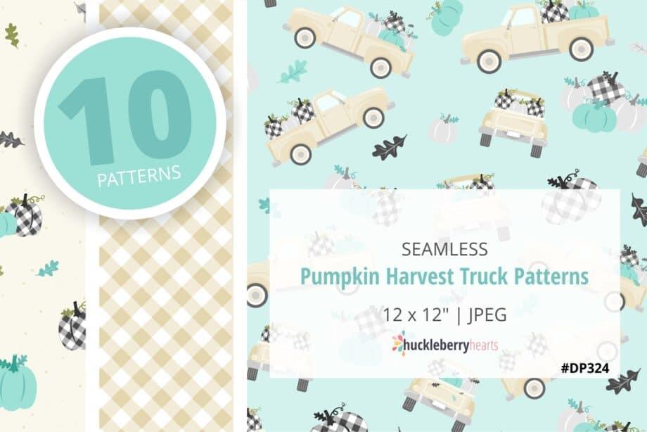 Pumpkin Harvest Truck Patterns Sample 2