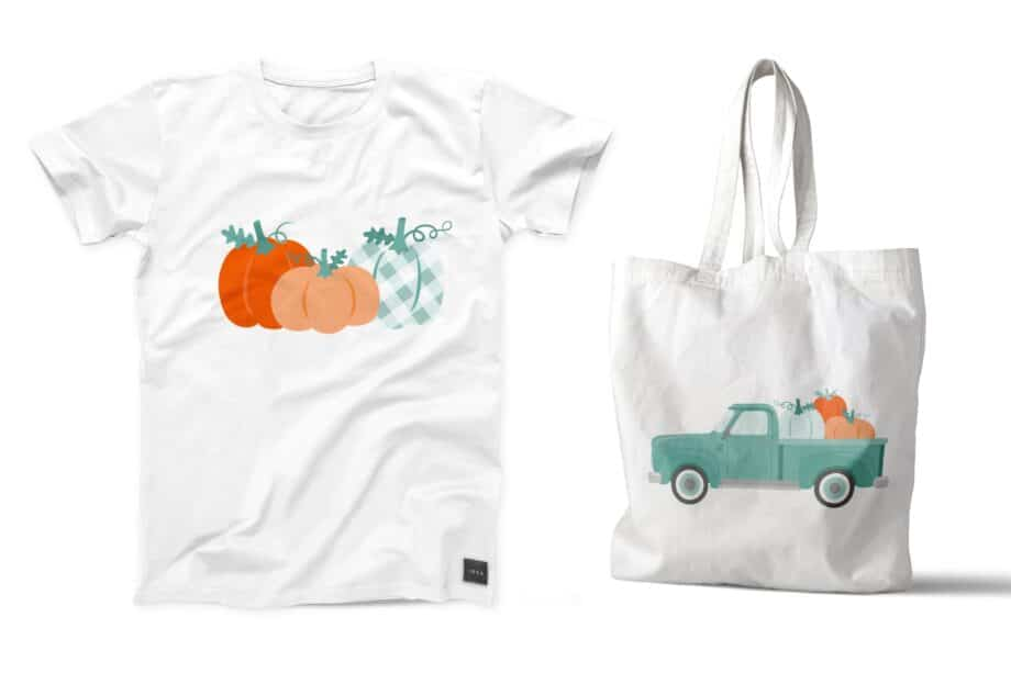 Vintage Pumpkin Truck Sample 5