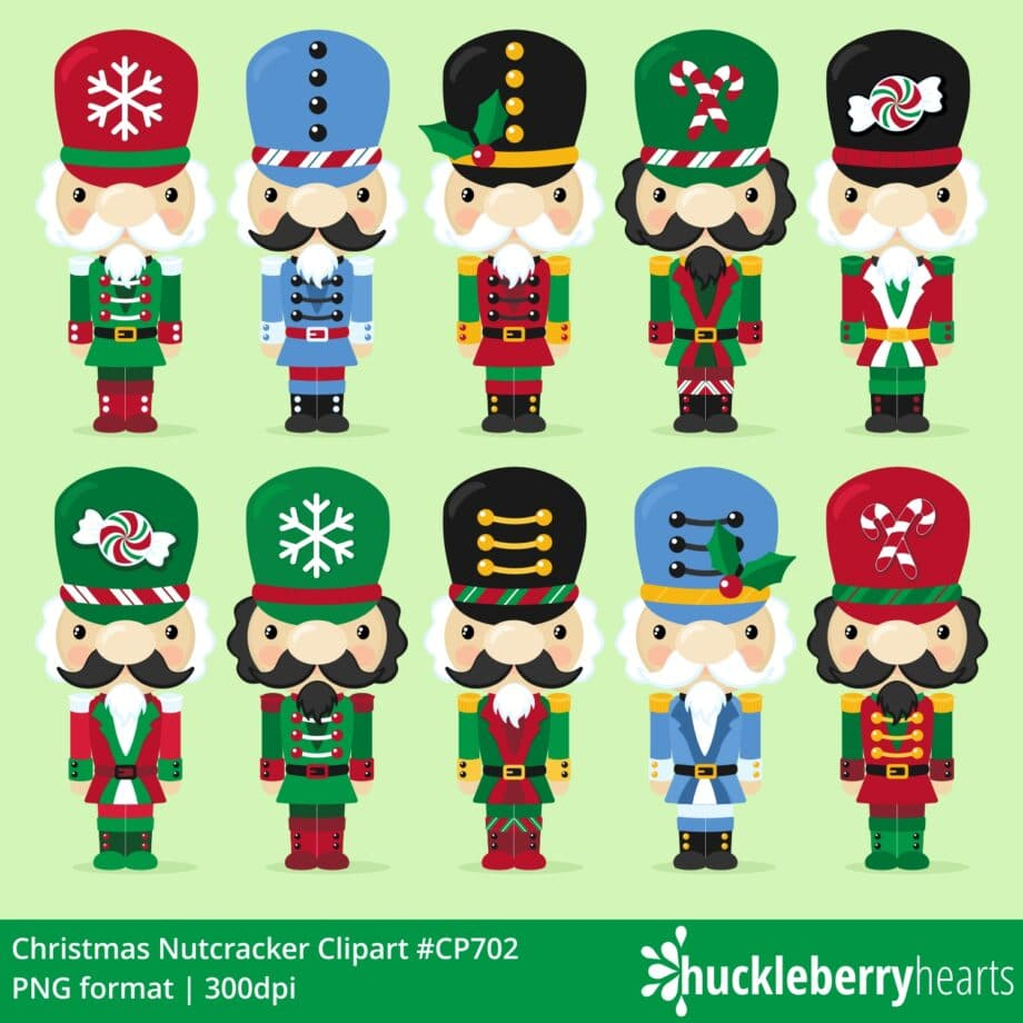 Assorted Christmas Nutcracker Cliparts