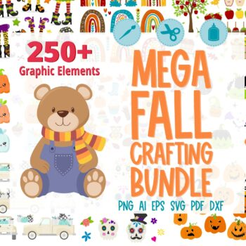 Fall themed clipart bundle